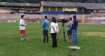 Valério realiza treino com presença de reportagem da Rede Globo