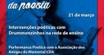 Fundação Cultural Carlos Drummond de Andrade prepara programação para o dia da poesia