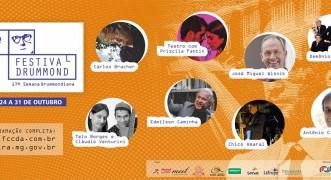 Começou o Festival Drummond e a Semana Drummondiana com vários eventos gratuitos