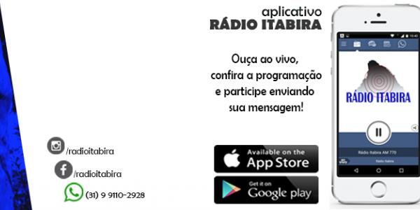 Baixe já nosso aplicativo! Ouça a Rádio Itabira pelo celular ou tablet